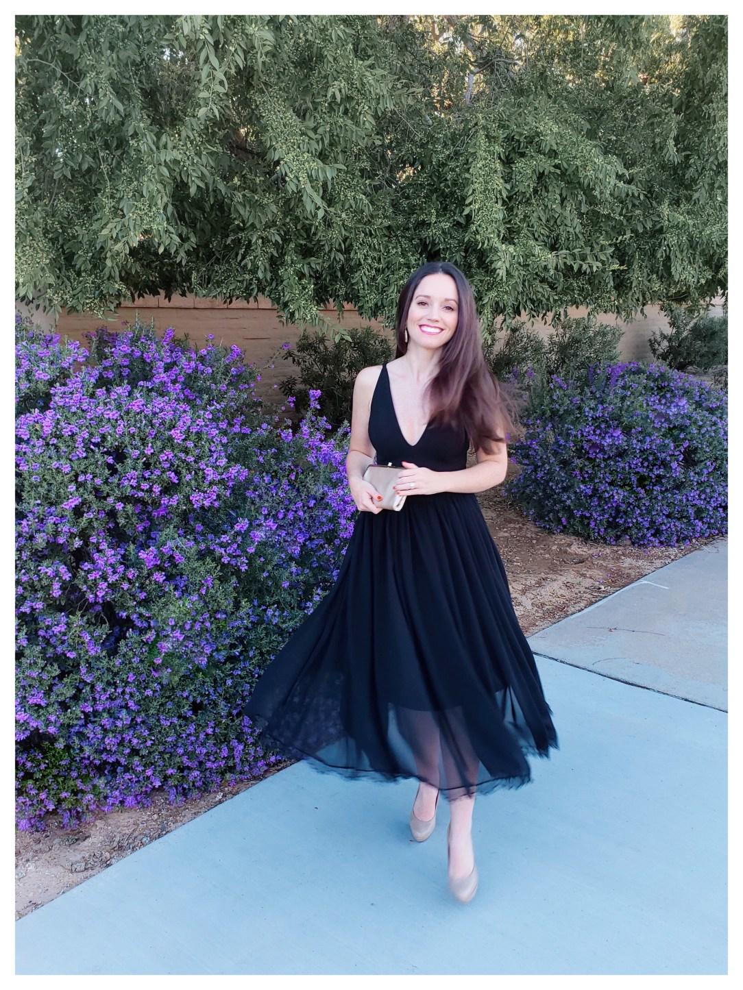 Petite Fashion Blogger Five Foot Feminine in Dress the Population Dress.jpg