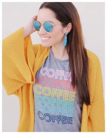 Coffee Coffee Coffee T-Shirt on Five Foot Feminine