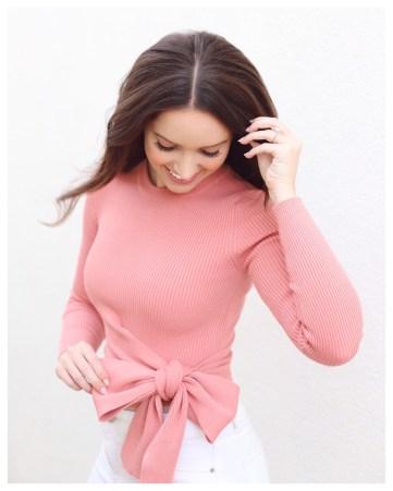 Five Foot Feminine in Zara Wrap Sweater