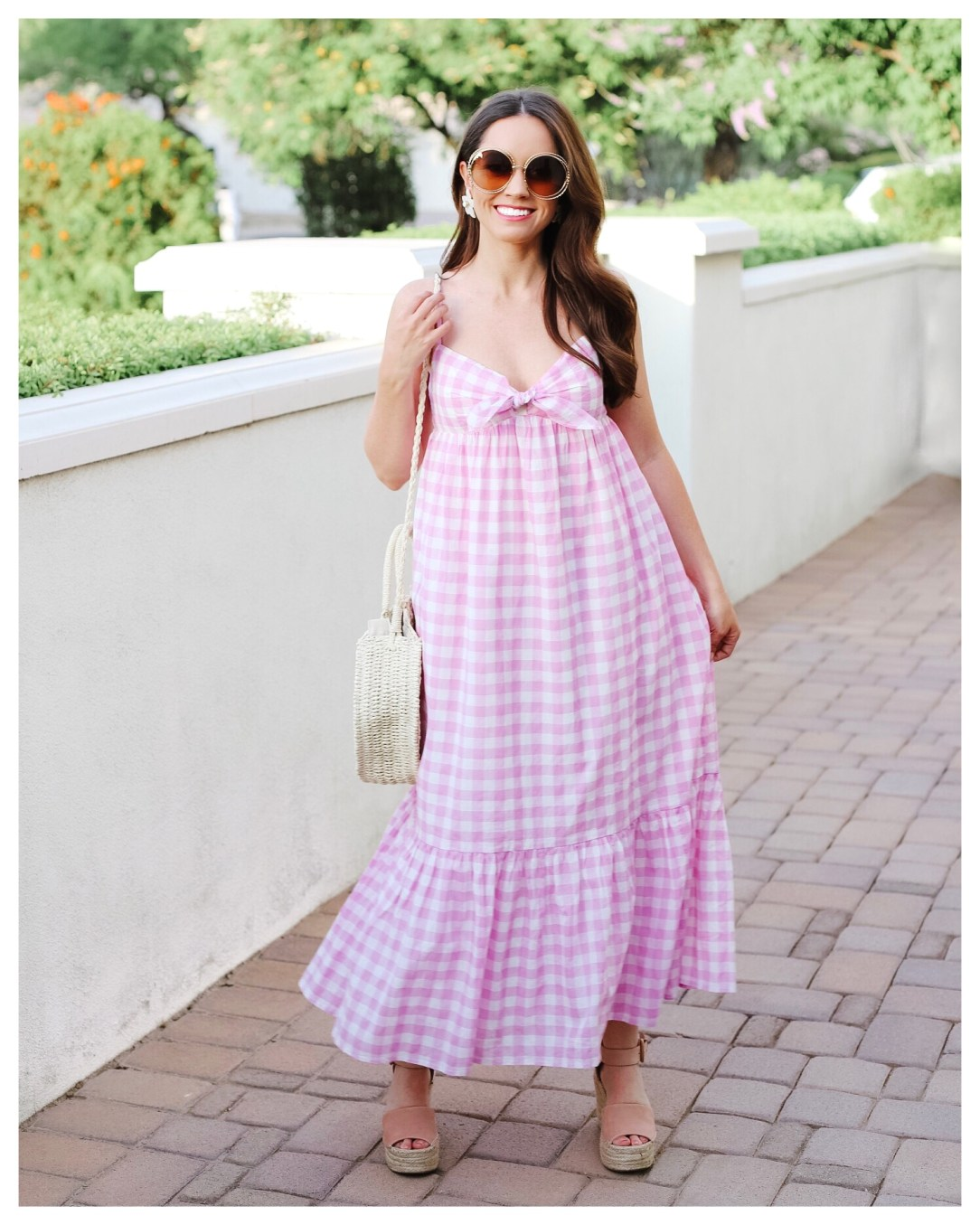 Pink Gingham Dress on Five Foot Feminine