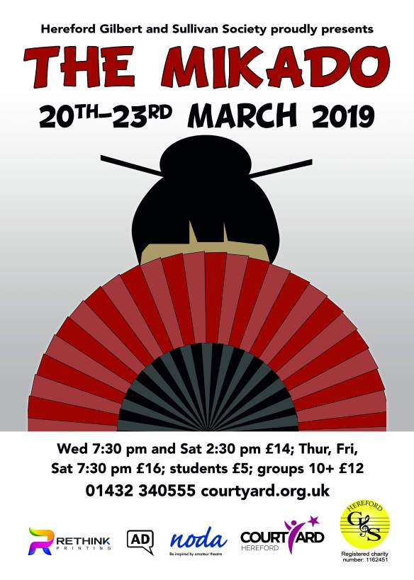 Poster for The Mikado, March 2019