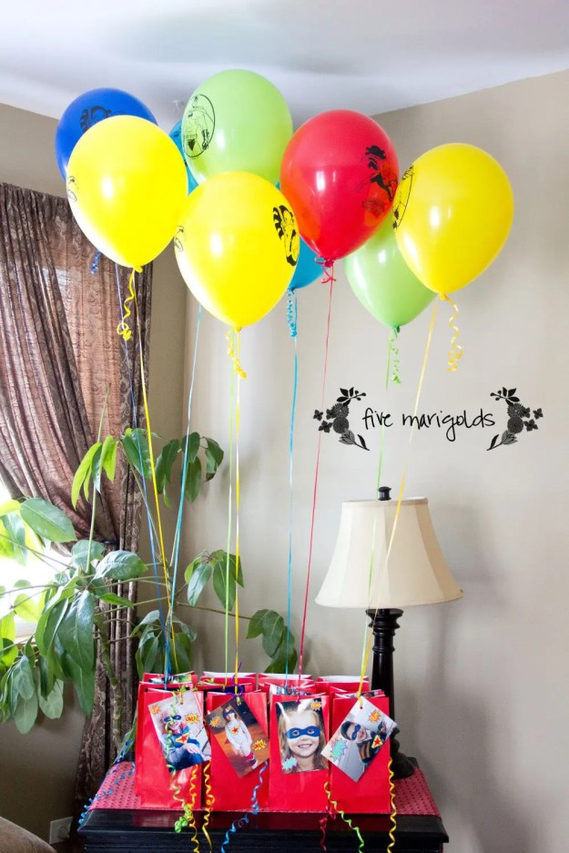 Super Hero Comic Book Birthday Party Custom Favors   Five Marigolds