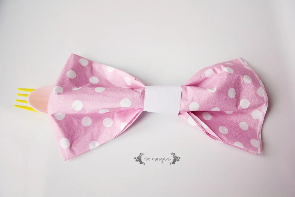 Baby Girl Bow Birthday Party Napkin Ring