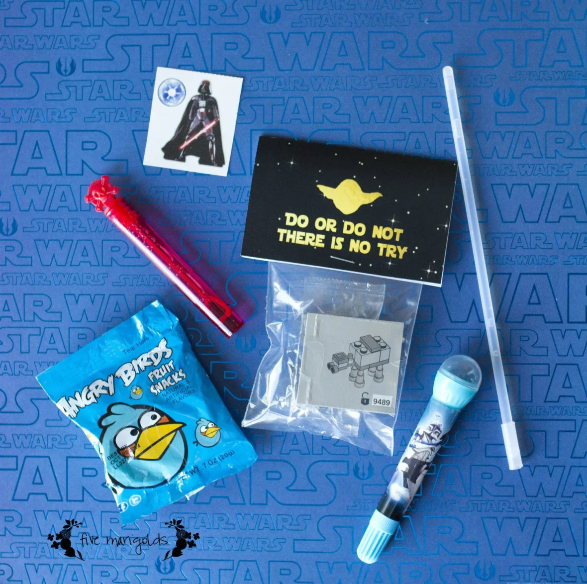 Star Wars Lego Birthday Favors | www.fivemarigolds.com