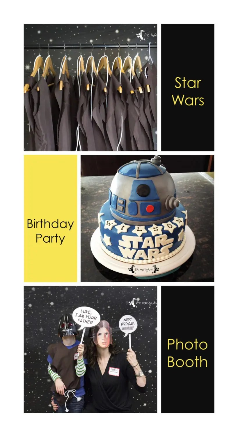 Star Wars Birthday Party Photo Booth | www.fivemarigolds.com