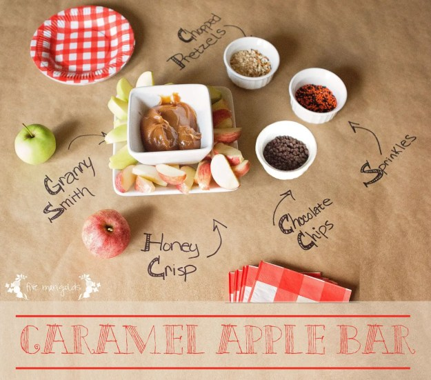 Halloween Treat Round-up: Caramel Apple Bar | Five Marigolds