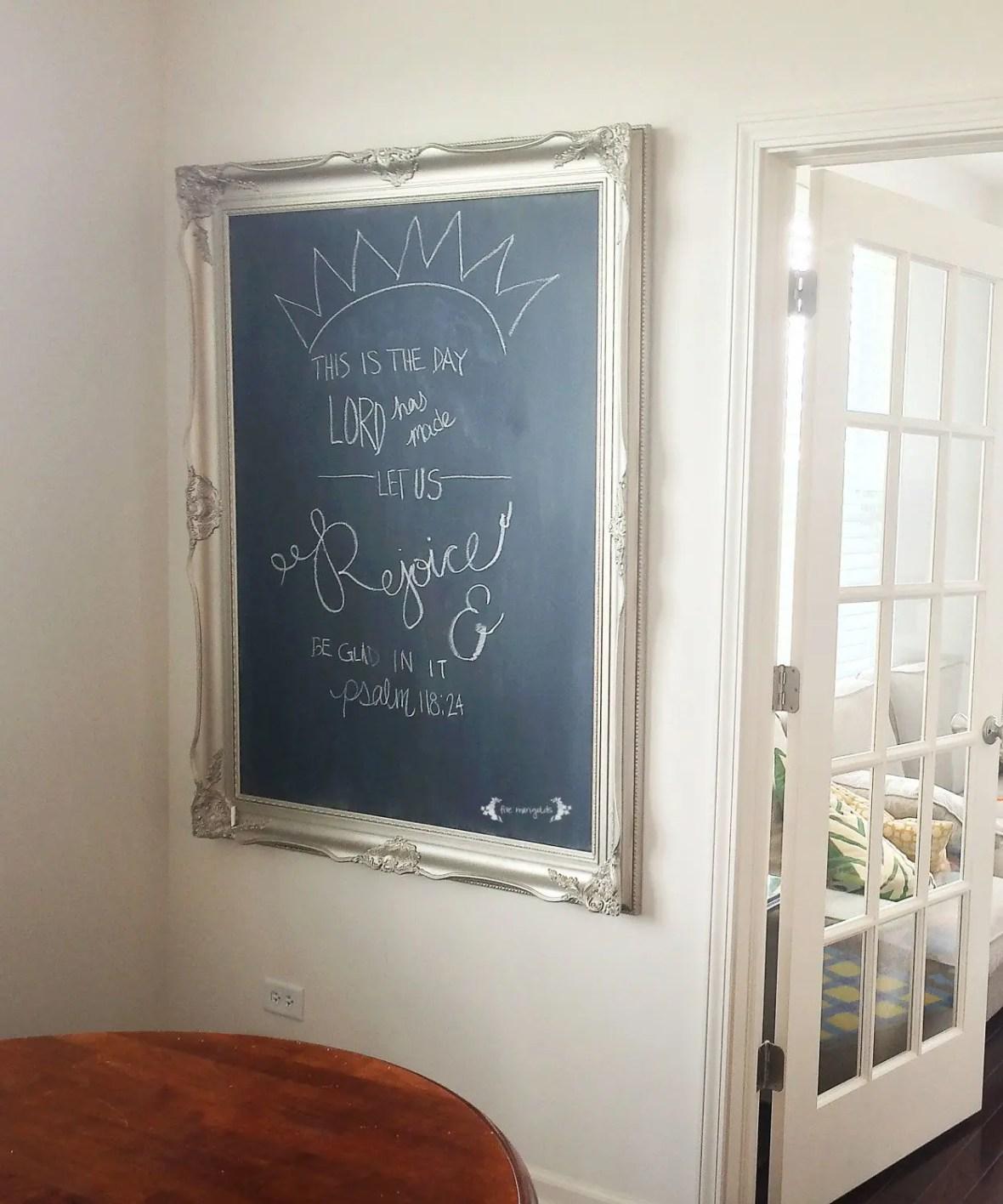 DIY Chalkboard Art using Rust-Oleum Chalkboard Paint | Five Marigolds