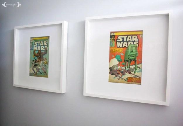 Vintage Star Wars Boy Bathroom Art | Five Marigolds