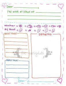 Free Printable Letter Writing Templates For Grandma Pen