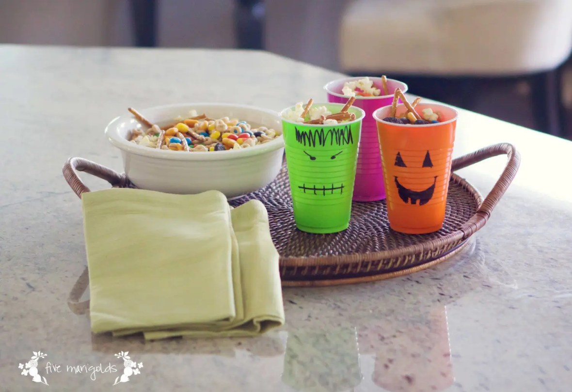 Monster Mix Halloween Trail Mix Recipe | Five Marigolds