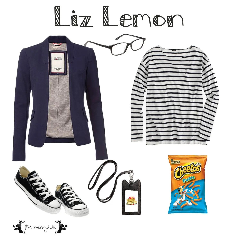 last minute (free) halloween costume: liz lemon - five marigolds