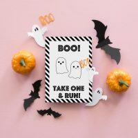 Take One And Run Halloween Printable