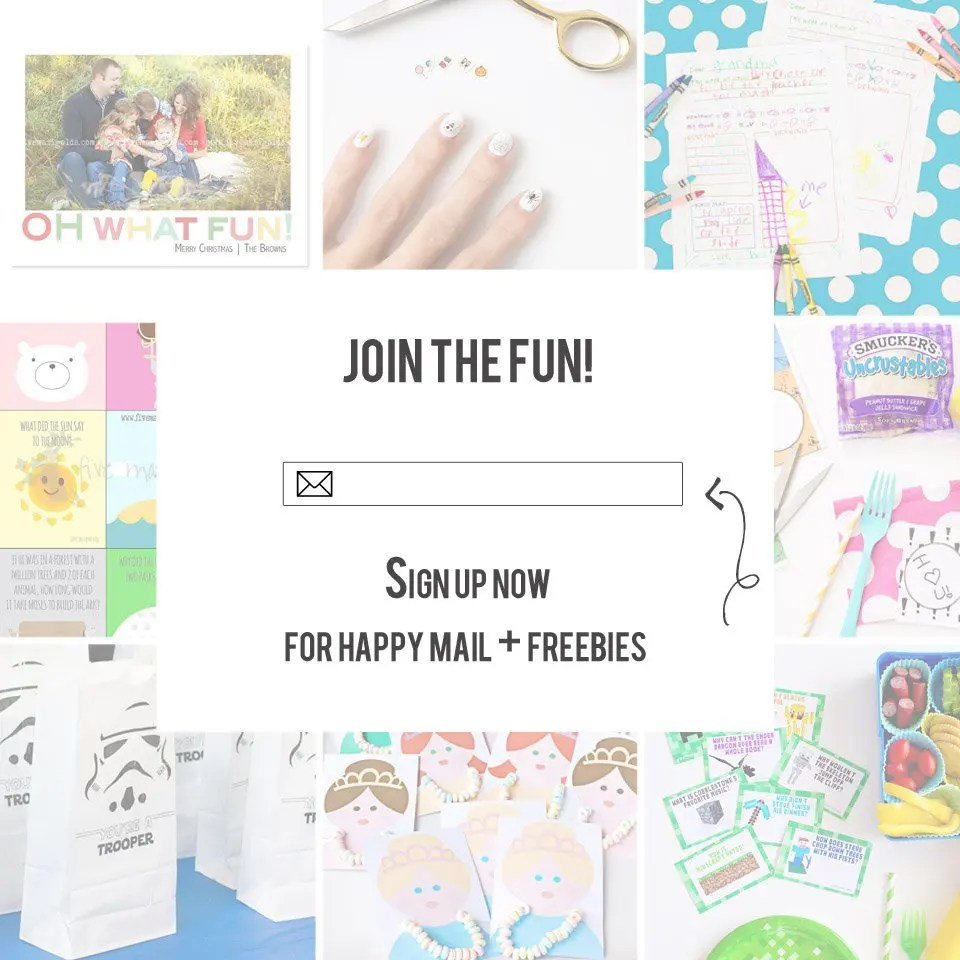 Sign up now for happy mail and exclusive access to freebies!