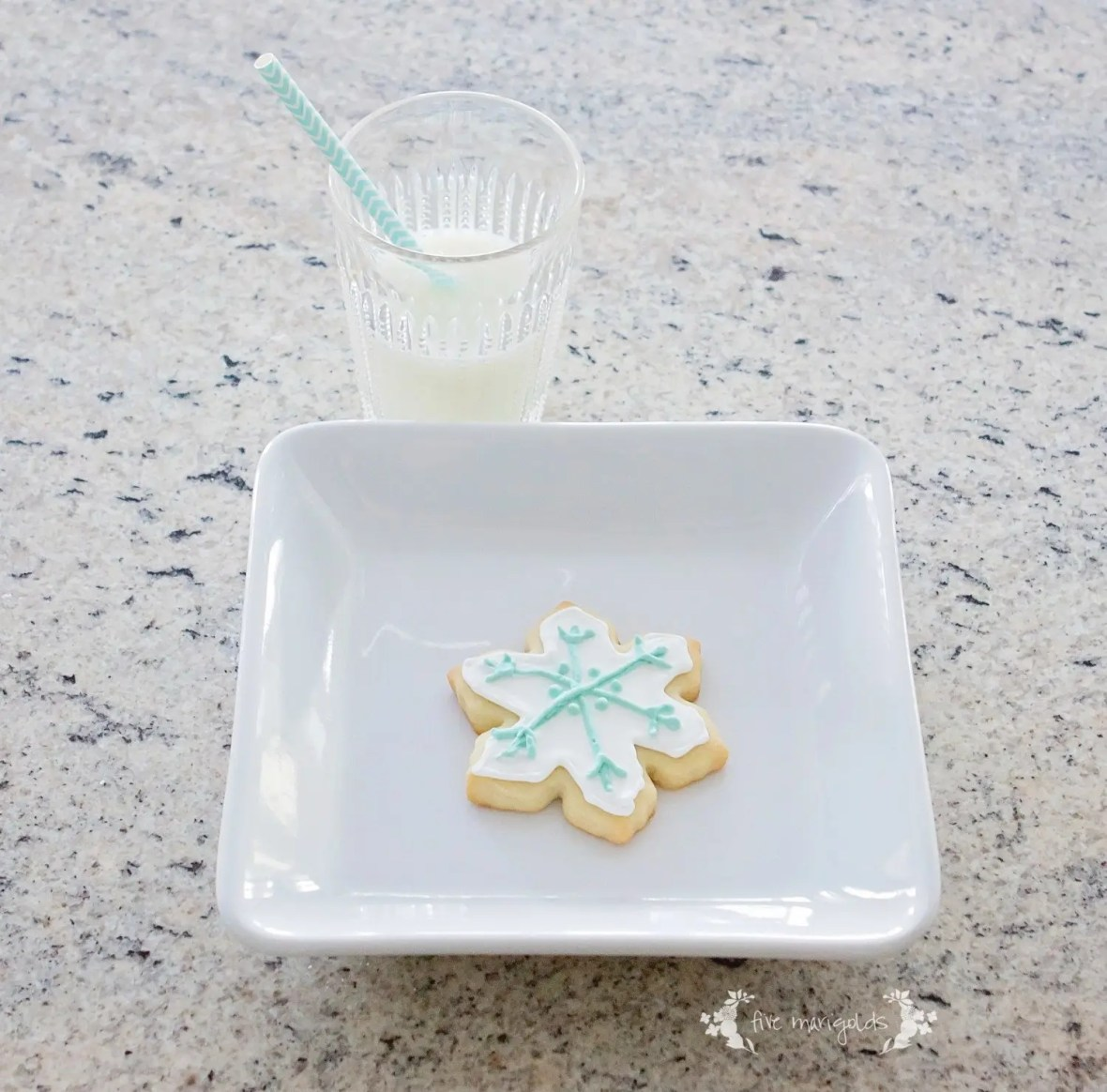 Vanilla Almond Sugar Cut Out Cookies | Five Marigolds