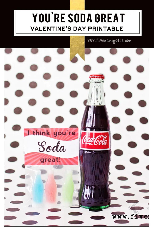Soda great cola-inspired Valentine's Day printable