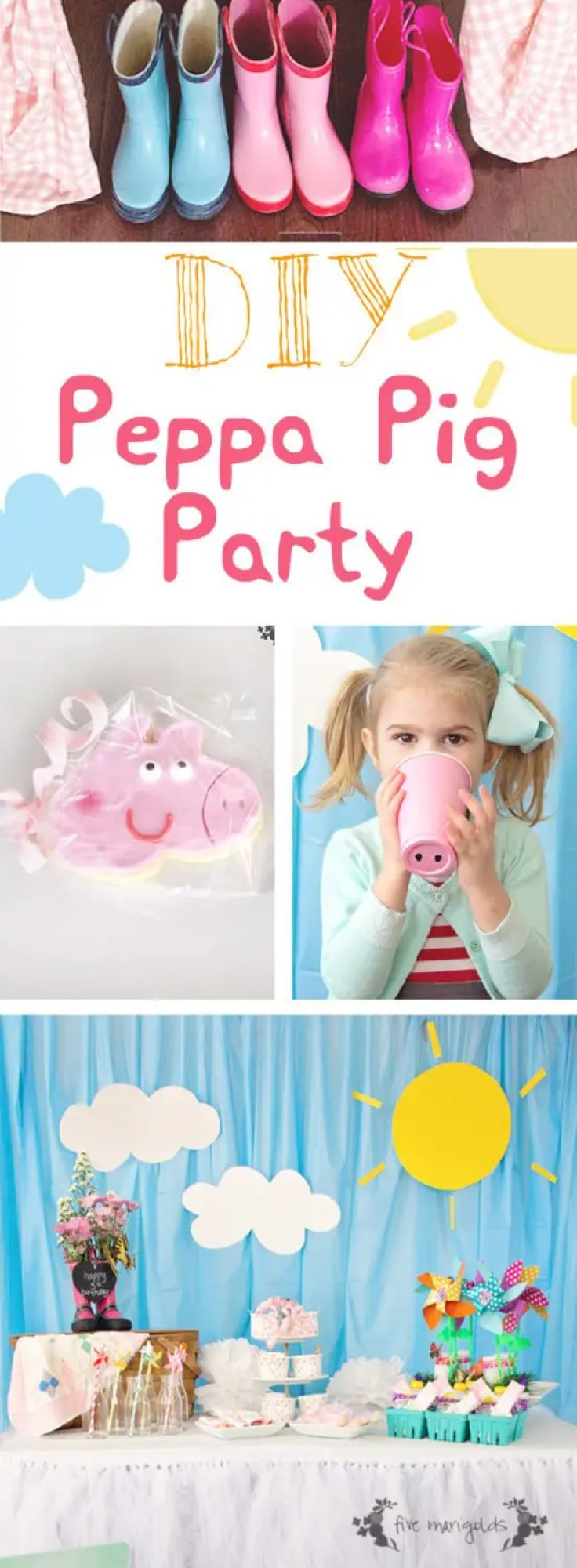 DIY Peppa Pig Birthday Party | Five Marigolds