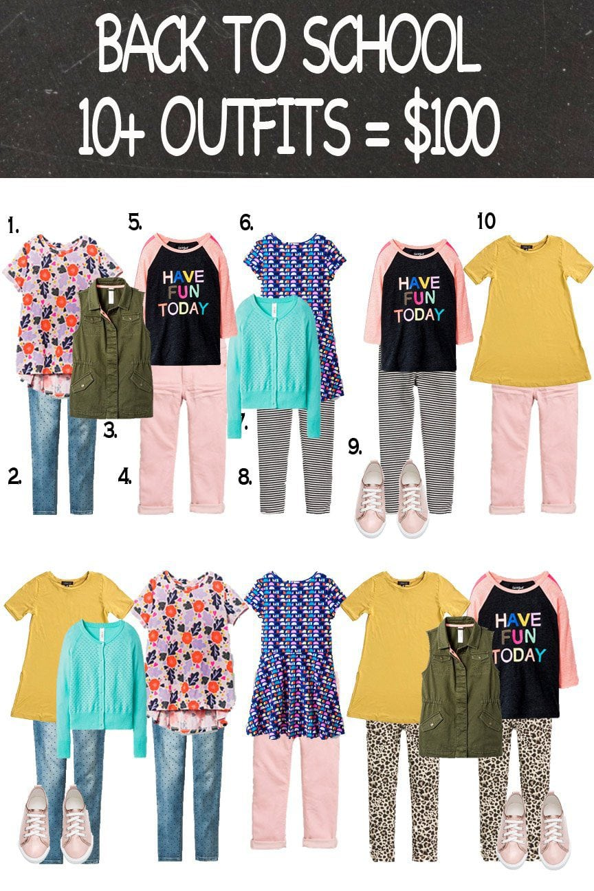 Shop Your Back To School Capsule Wardrobe for Girls just $100 | Five Marigolds