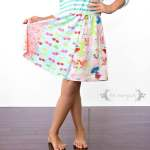 Refashion upcycled T-shirts to create a custom knit dress for little girls | Five Marigolds