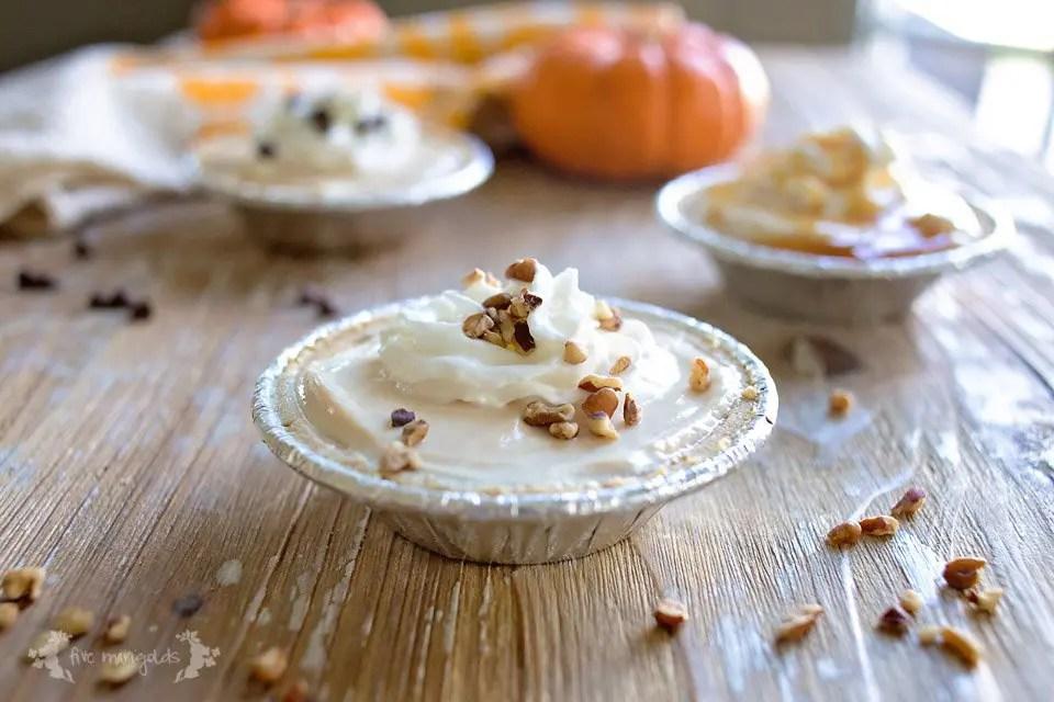 3 Ingredient Frozen Pumpkin Mini Pies - your favorite pumpkin dessert, lightened up! #EffortlessPies #ad
