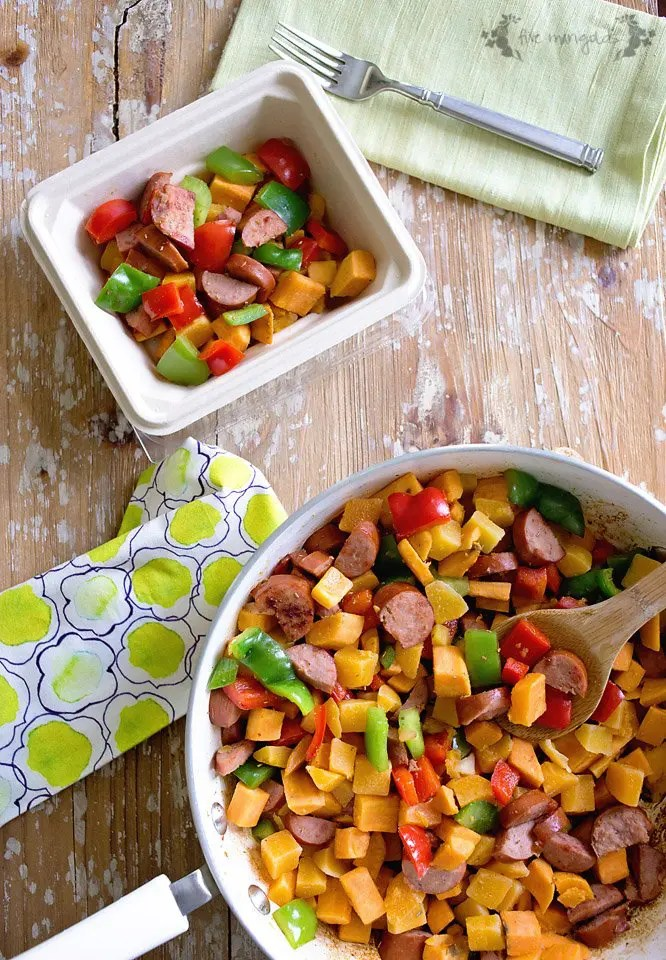 I need to do this - make ahead breakfast meal prep. Sweet Potato and Butternut Squash Hash