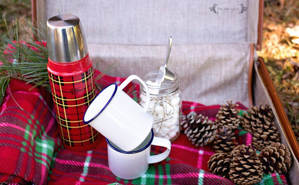 Winter Picnic Inspiration: Chocolate Covered Cherry Hot Chocolate