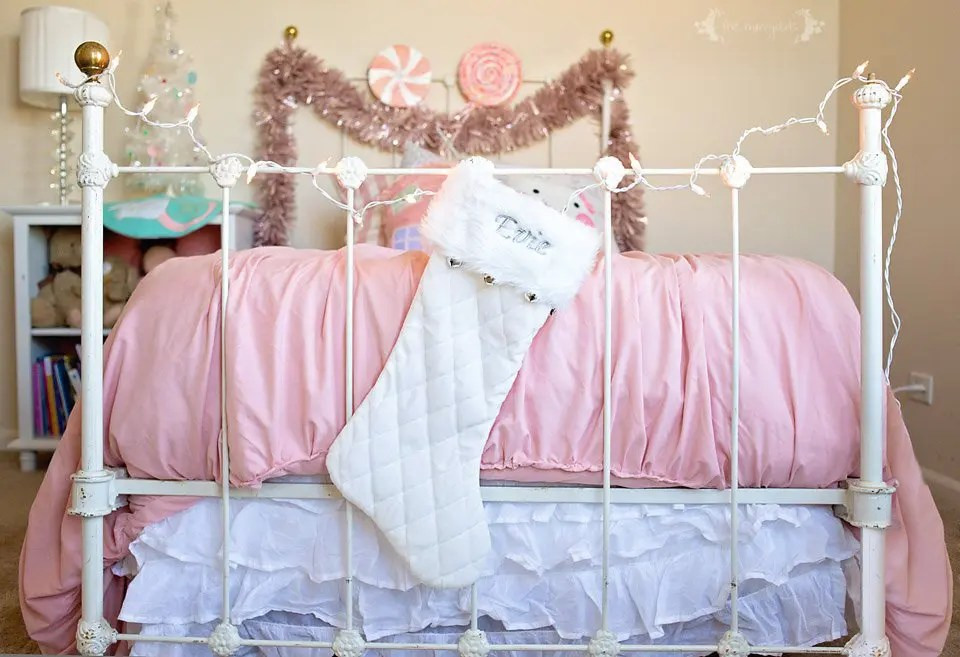 Christmas Chic Girl's Bedroom | Dance of the Sugarplum Fairy Bedroom Suite theme with pastels, sparkles and sweets.