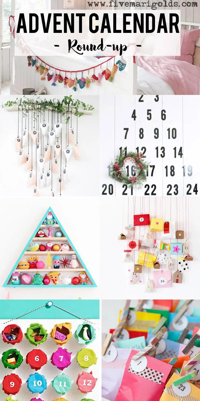 Round-up of Inspiring DIY Advent Calendars   Five Marigolds