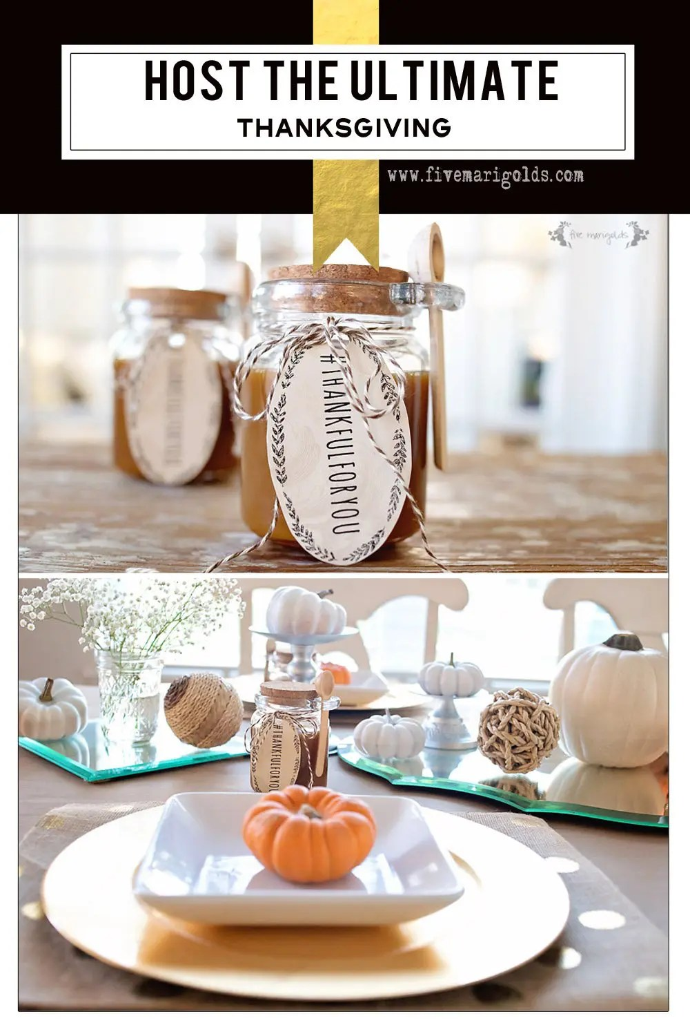 How to host the ultimate Thanksgiving with free printable favor tags #ad #Prep4Gathering