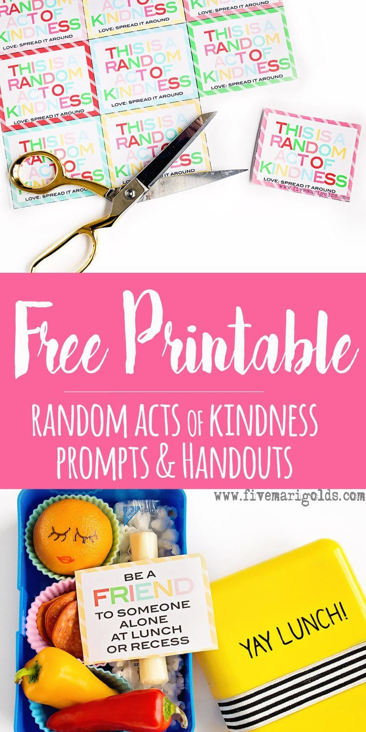 Count down to Christmas with Random Acts of Kindness Advent activity | Five Marigolds