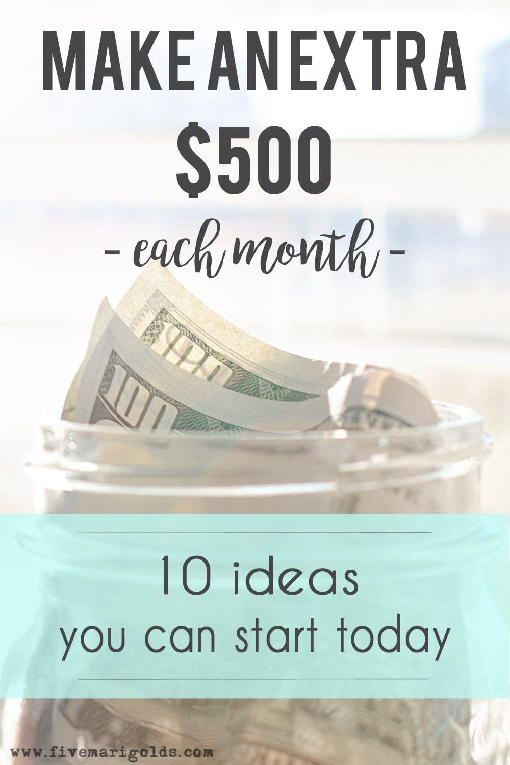 How I make an extra $500 per month in my spare time. | Five Marigolds