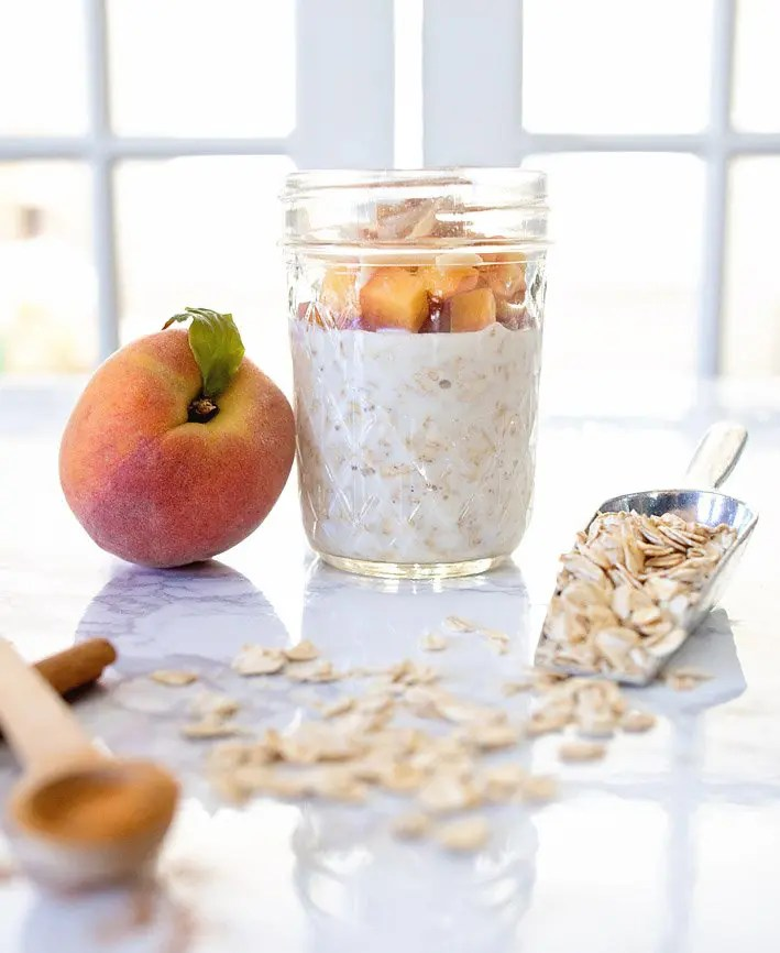Peaches 'N Cream Overnight Oats