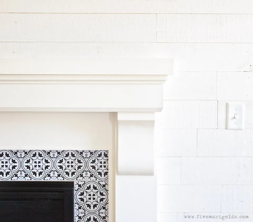 White Wood Feature Wall with Stikwood | Five Marigolds