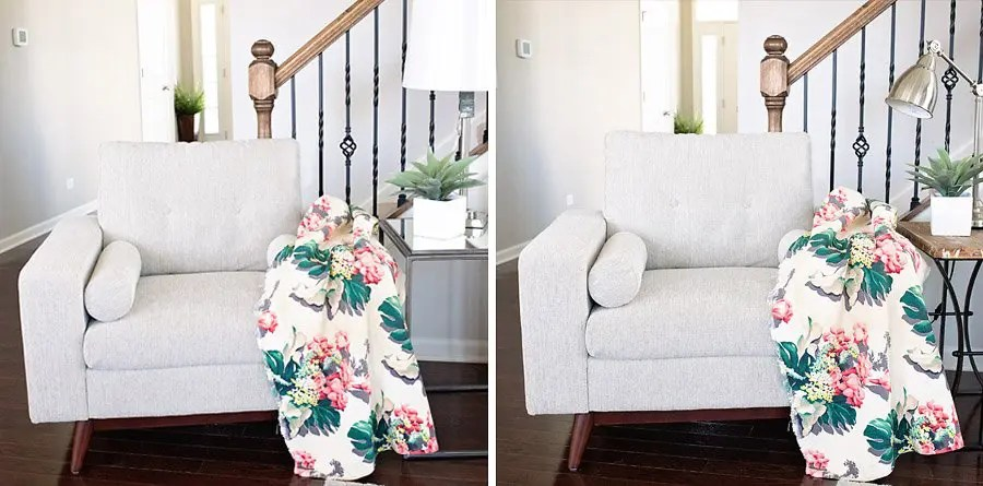 Mirrored or Rustic End Tables: What is your Vote?