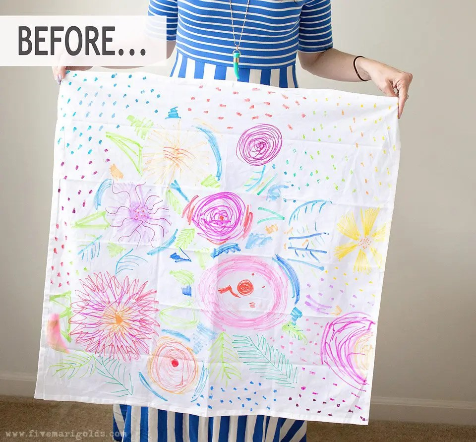 Homemade Mother's Day gift ideas: DIY watercolor tea towels