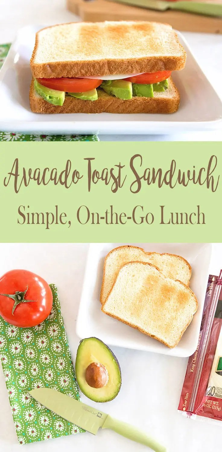 AVOCADO TOAST SANDWICH: Simple on-the-go meal with the flavors of avocado, tomato and provolone. | Five Marigolds #SargentoAtMeijer #IC ad
