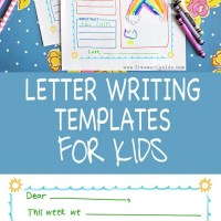 Summer Letter Templates for Kids