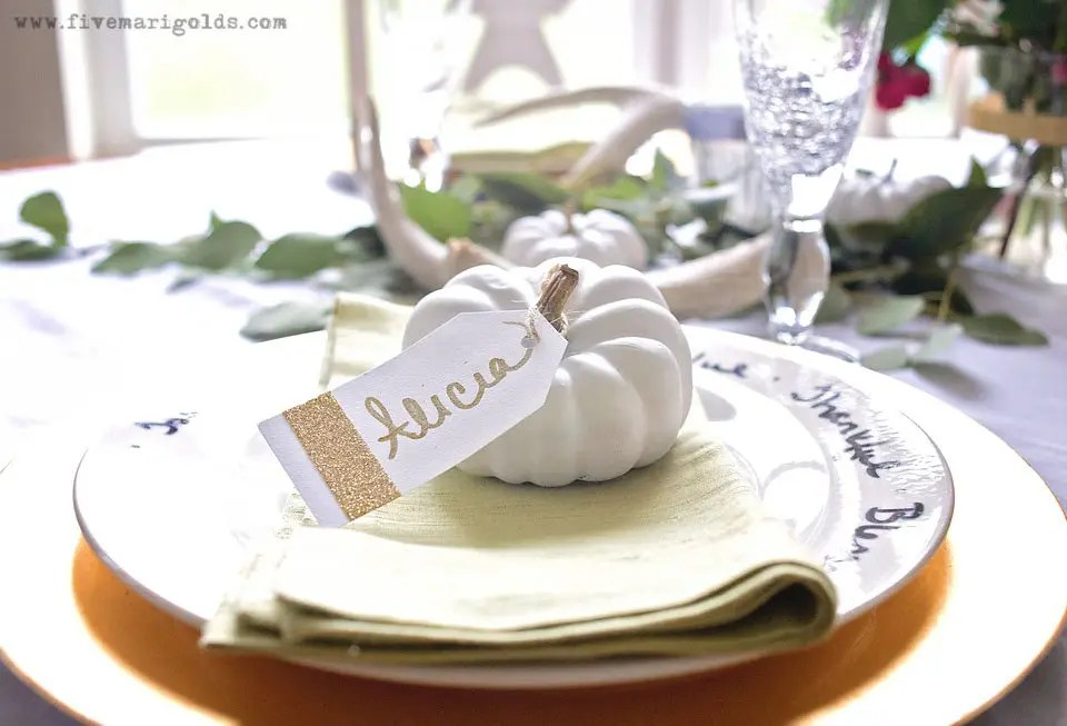 Affordable and Chic Thanksgiving Decor | Five Marigolds