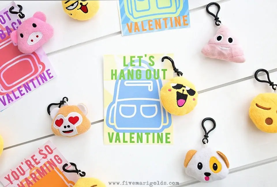 Backpack Charms Valentines Printables Five Marigolds