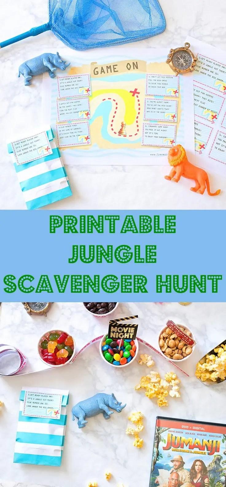 Jungle scavenger hunt printable