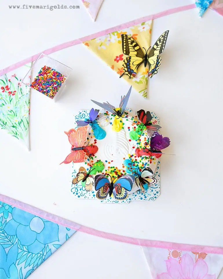 Butterfly Birthday Party Ice Cream Cake | Five Marigolds