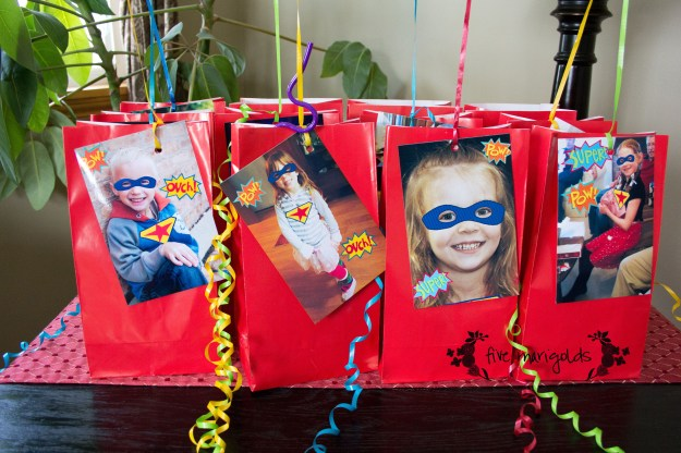 Super Hero Comic Book Birthday Party Custom Favors | Five Marigolds