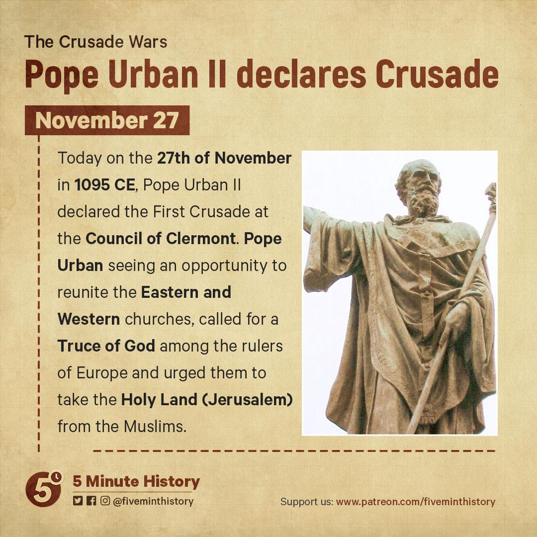 Pope-Urban-II-declares-Crusade