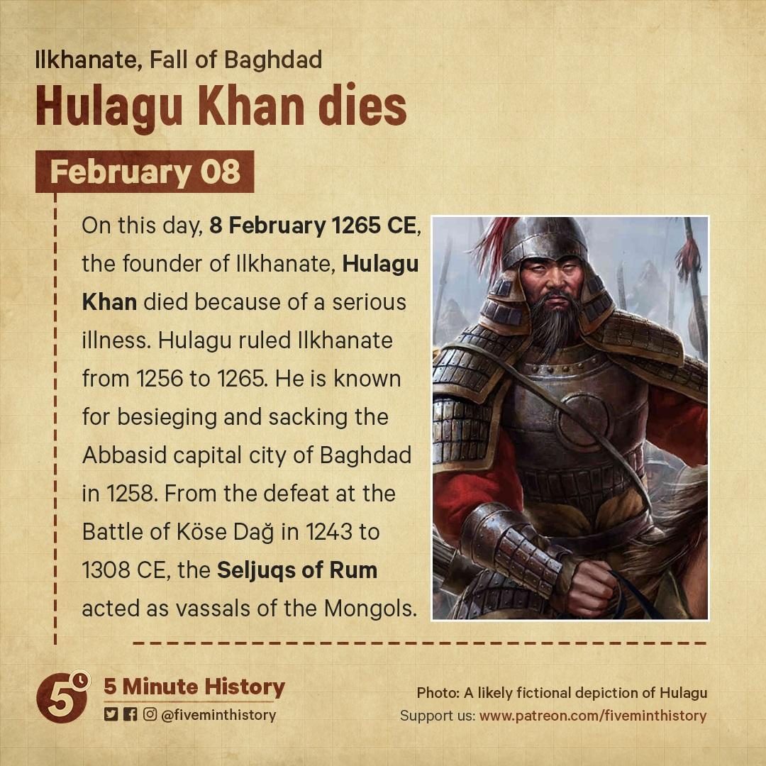 Hulagu Khan dies