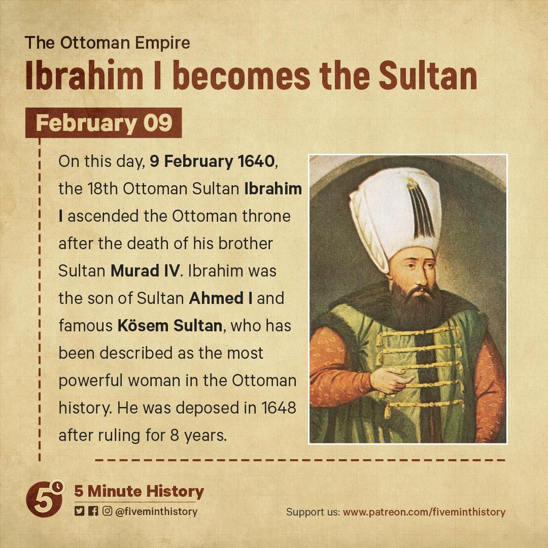 Ibrahim I becomes the Sultan