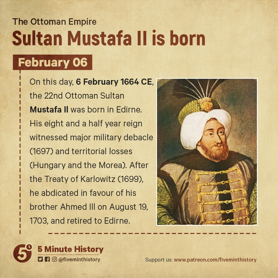 Sultan Mustafa II is born
