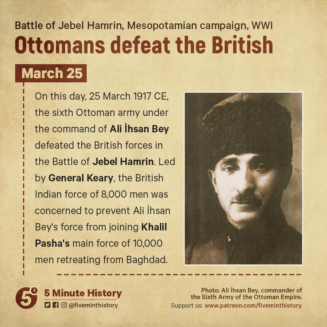 Battle of Jebel Hamlin 25 March 1917