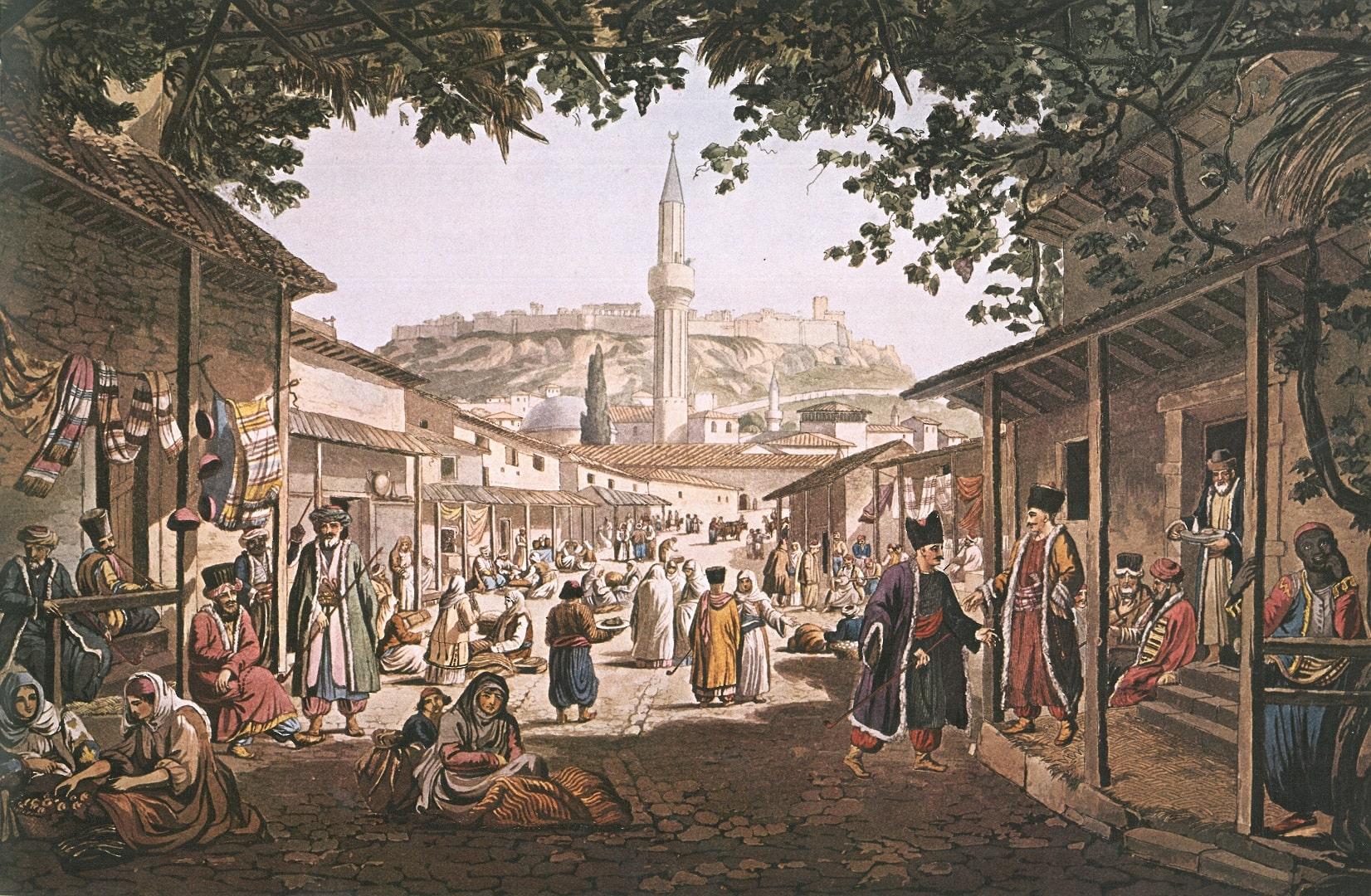 Ottoman Bazars of Athens | Wikimedia