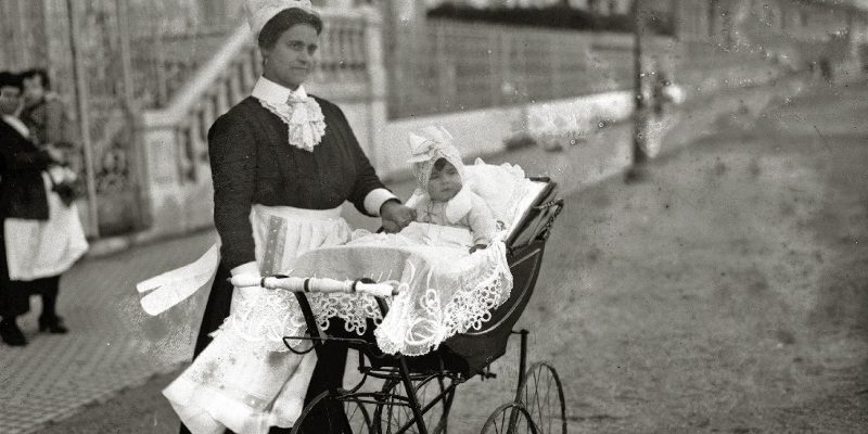 vintage baby carriages of bygone times
