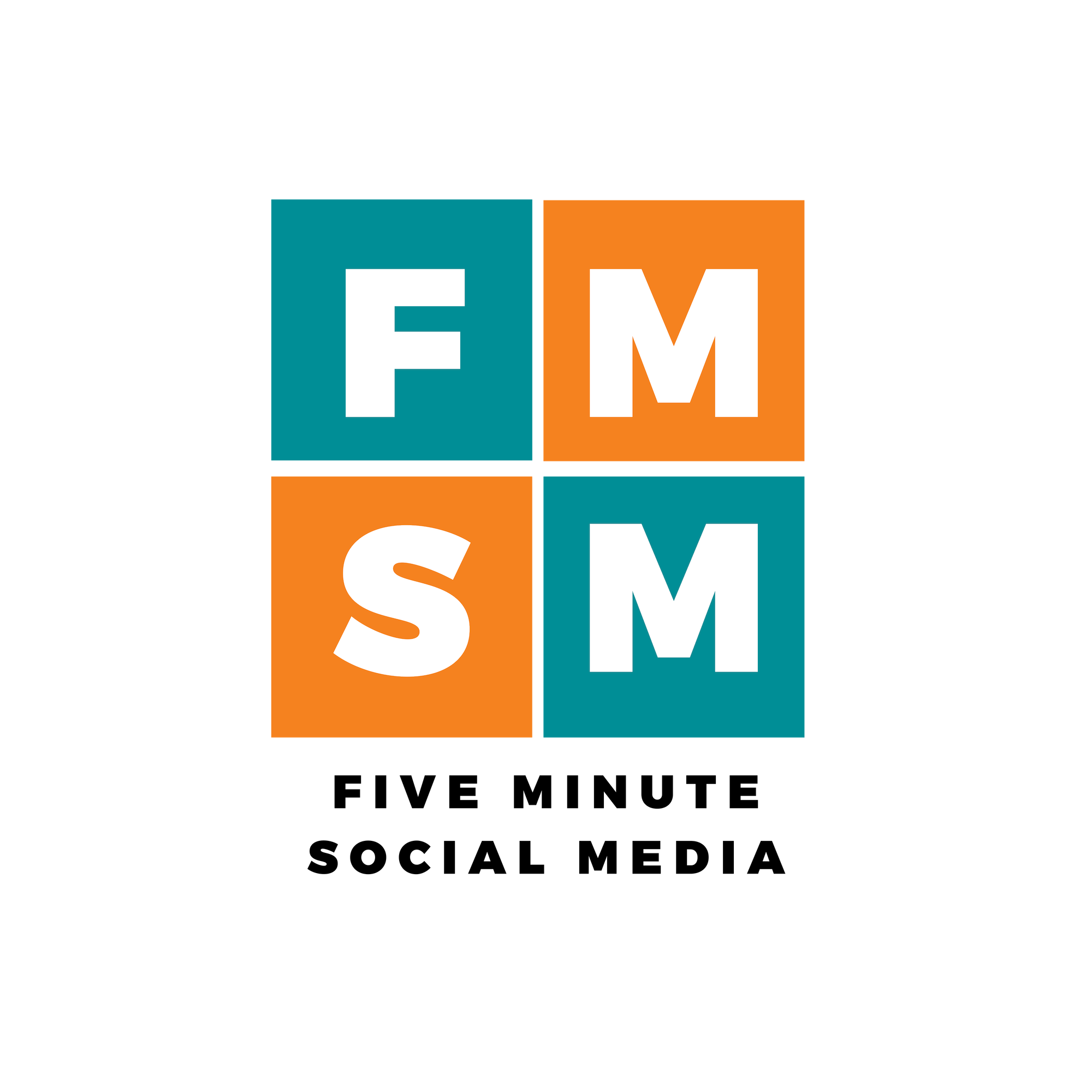Five Minute Social Media Logo - Black