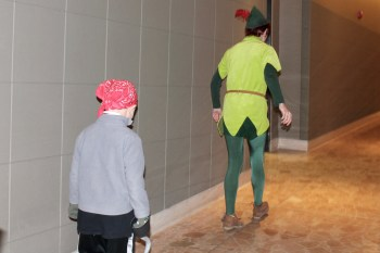 Playing following the leader with Peter Pan